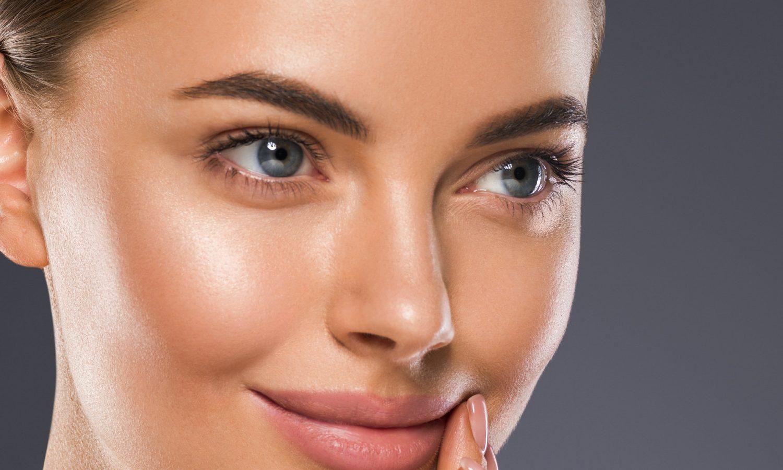 Clean skin woman cosmetic portrait