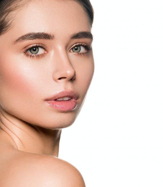 Woman healthy skin beautiful face happy people